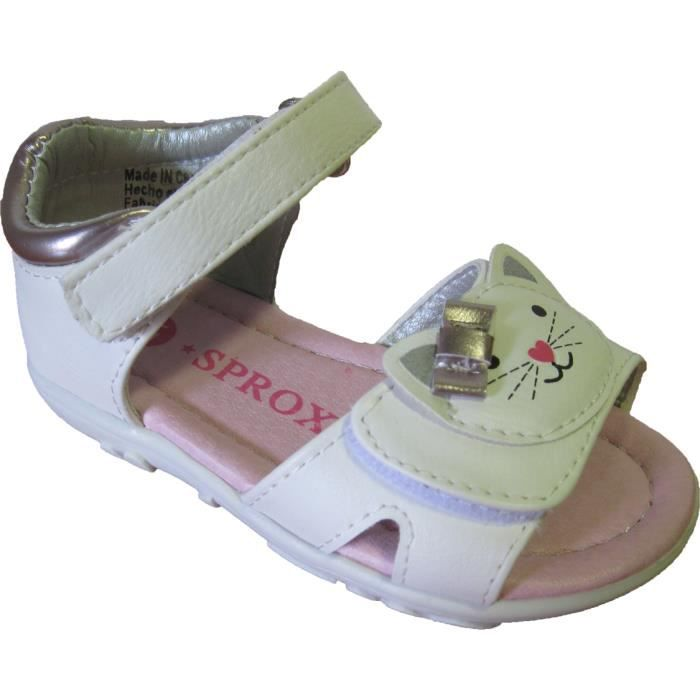 Sandales blanches pour layettes akHcuwe