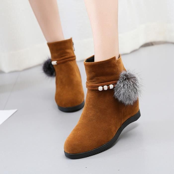 Bottes 2017 femmes & # 39; Chaussures femmes nouvelles bottes d'hiver dans l'appartement plus plat avec des bottes de neige chaude 862sa9ZhH3
