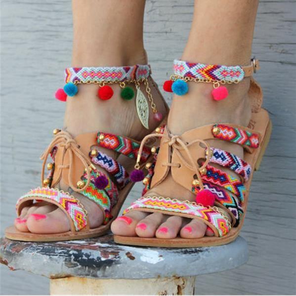 Fashion Style Chaussures Sandales Femme Bohème De Plates Monitech OiPkZlXTwu