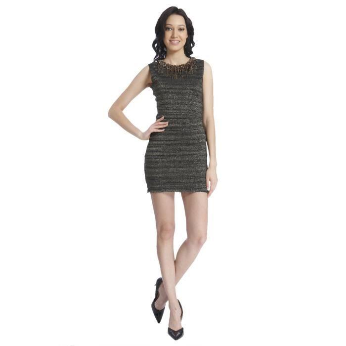 3c3c45076716 Vero Moda Rayon robe de décalage des femmes FL9R8 Taille-38 Noir ...