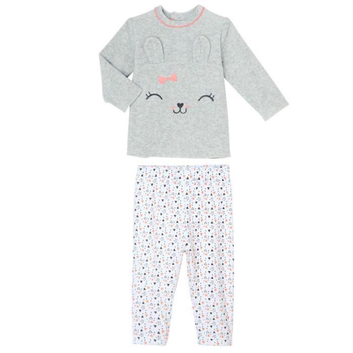 98c477fbb26c1 Pyjamas velours bebe 2 pieces - Achat   Vente pas cher