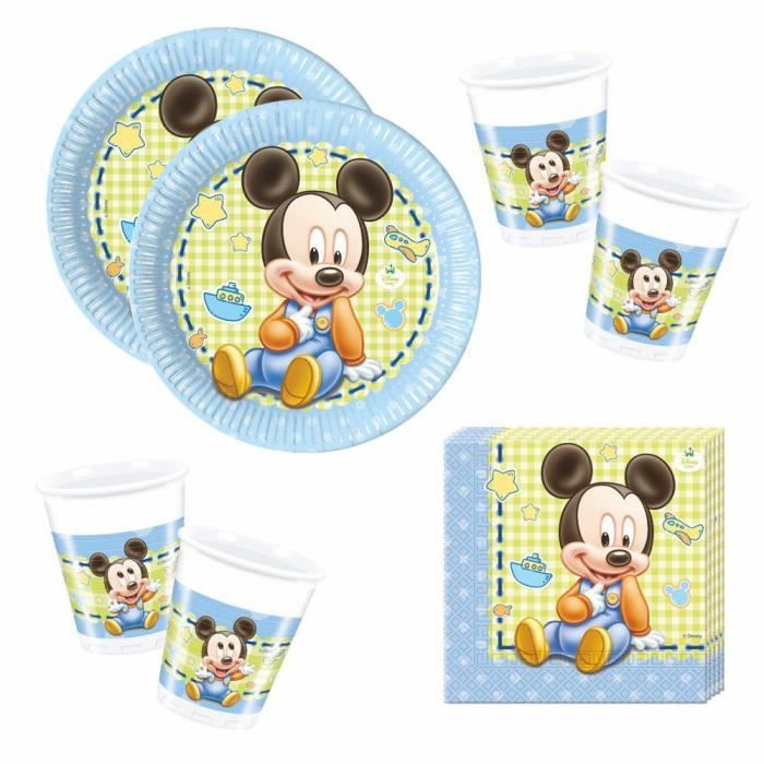 Disney Mickey Mouse Party Anniversaire Set Party Vaisselle Baby