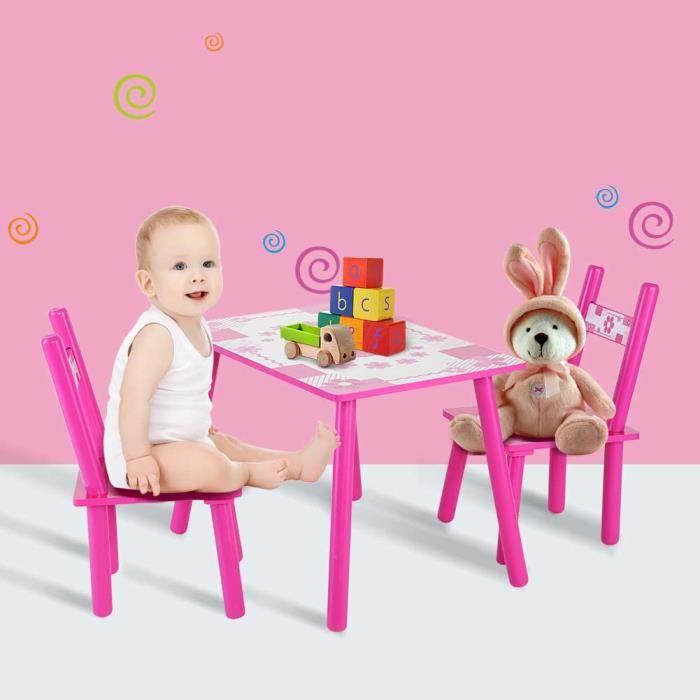 Ensemble Table Et 2 Chaises Enfant Meubles Pour Chambre DEnfant DActivit En Bois YY