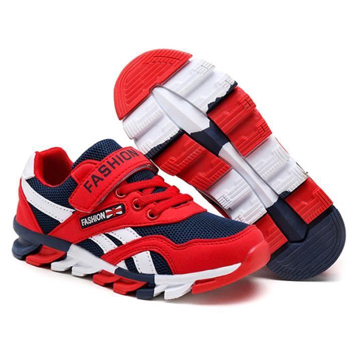 Chaussures Enfants De Sport Garçons Filles Durable Sneakers CHT-XZ097Rouge40