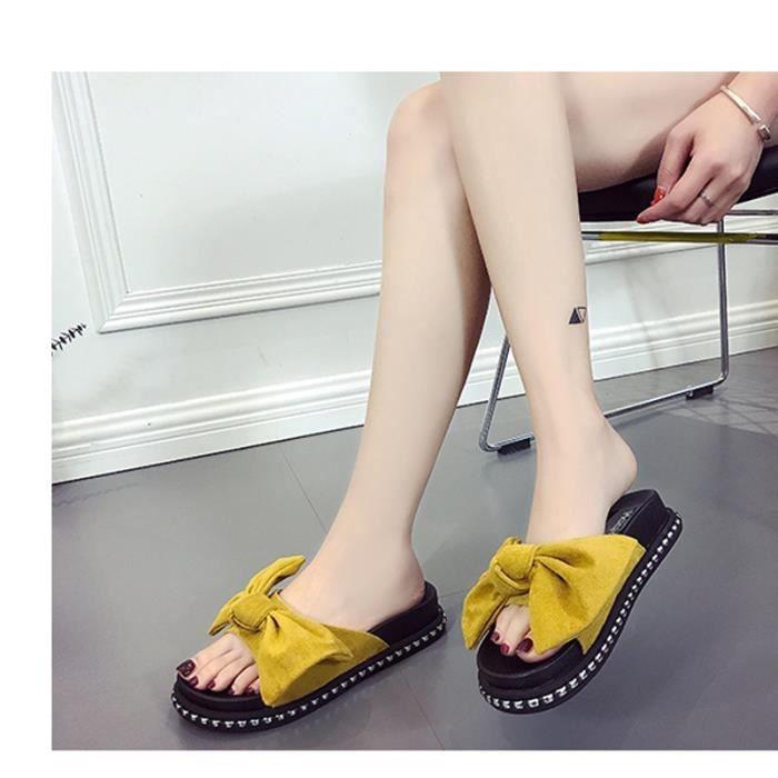 Femmes Rihanna Fenty X Bandana Faites glisser Chaussons casul Sandales plage Slipper