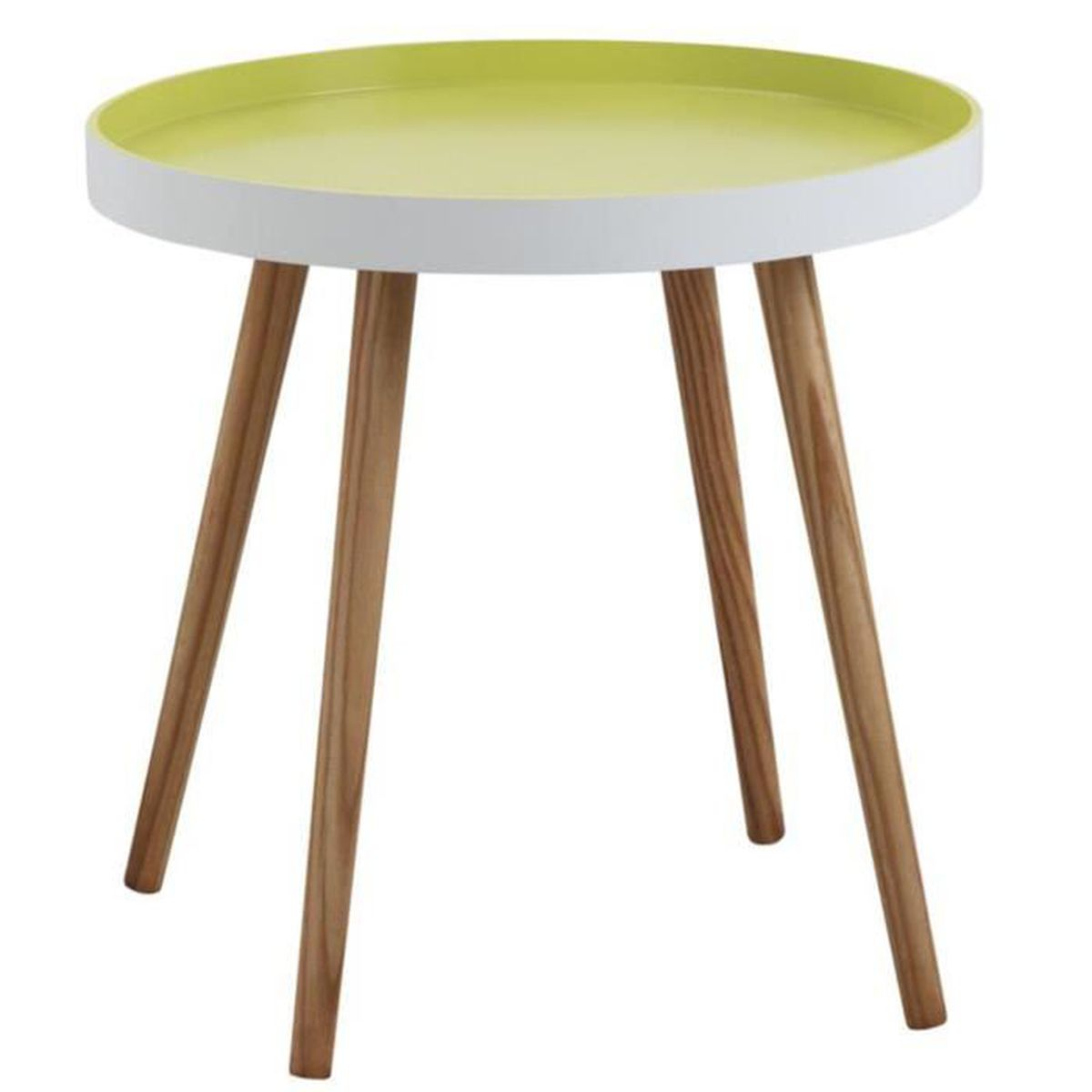 table dappoint table dappoint ronde en bois et mdf laqu - Table D Appoint Ronde