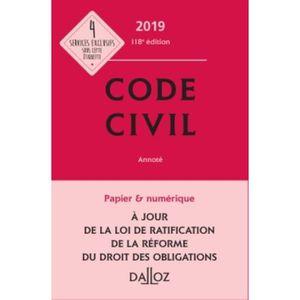 LIVRE DROIT CIVIL Code civil. Avec 1 supplément réforme du droit des