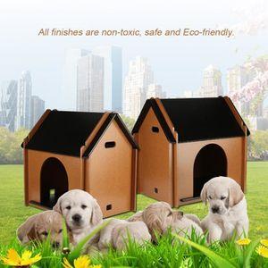 ACCESSOIRE ABRI ANIMAL Maison Abri pliable pour animaux en bois de compag