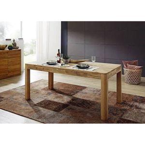 TABLE À MANGER SEULE Table à manger 200x100cm - Bois massif de Chêne sa