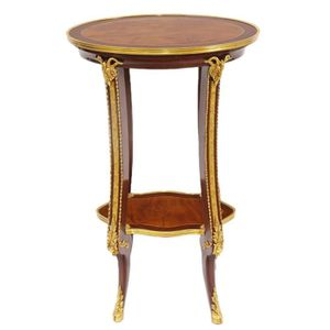 TABLE D'APPOINT Casa Padrino Table d'Appoint Baroque de Luxe Acajo
