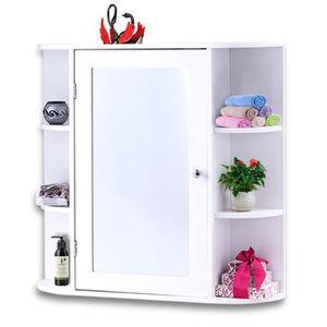 ARMOIRE DE TOILETTE COSTWAY Armoire de Toilette avec Miroir Armoire à