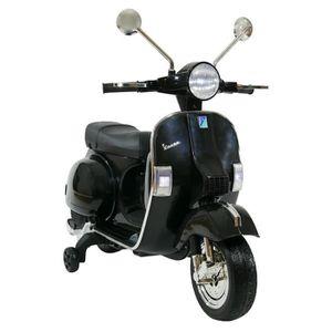 MOTO - SCOOTER Scooter électrique Vespa enfant 6V Noir