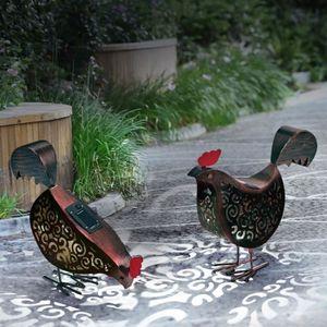 Eclairage horticole Lot de 2 poules métal éclairage extérieur à led so