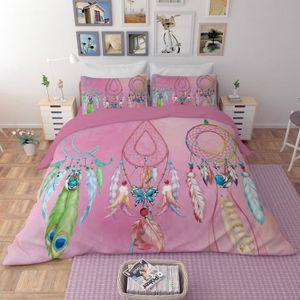 HOUSSE DE COUETTE SEULE Parure de lit attrape rêves aux coloris 3D effet 1