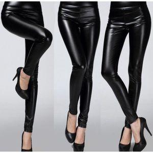 fb7687ff5b Pantalon cuir femme - Achat / Vente pas cher - Soldes d'été Cdiscount