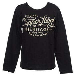 T-SHIRT Tee shirt manches longues Fereol noir ml tee jr -