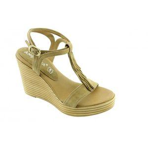 SANDALE - NU-PIEDS Jeanelle – sandales à franges chaussures compensée