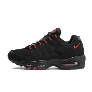 d2ab61abe53f6 Nike Air Max 95 OGQS Homme Running Basket Chaussure Noir et Rouge ...
