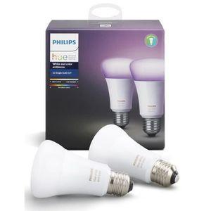 AMPOULE INTELLIGENTE PHILIPS HUE Pack de 2 ampoules White&Color E27