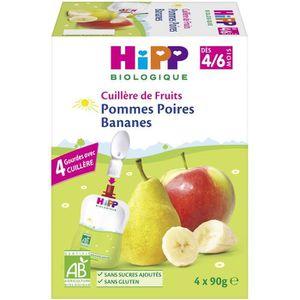 DESSERT FRUITS BÉBÉ HIPP BIOLOGIQUE Gourdes 100% fruits - Pomme poire
