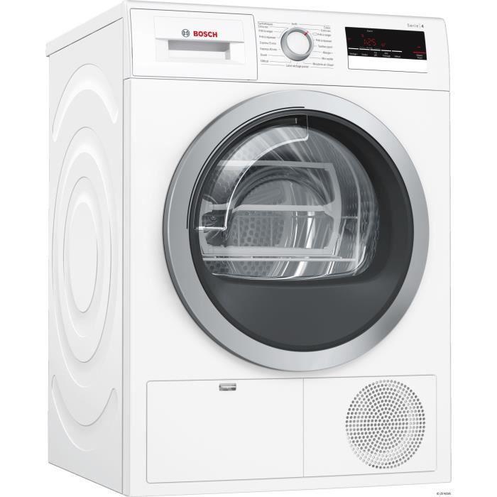 BOSCH WTN85201FF - Sèche linge frontal - 8 kg - Condensation avec pompe à chaleur - Classe B - Blanc