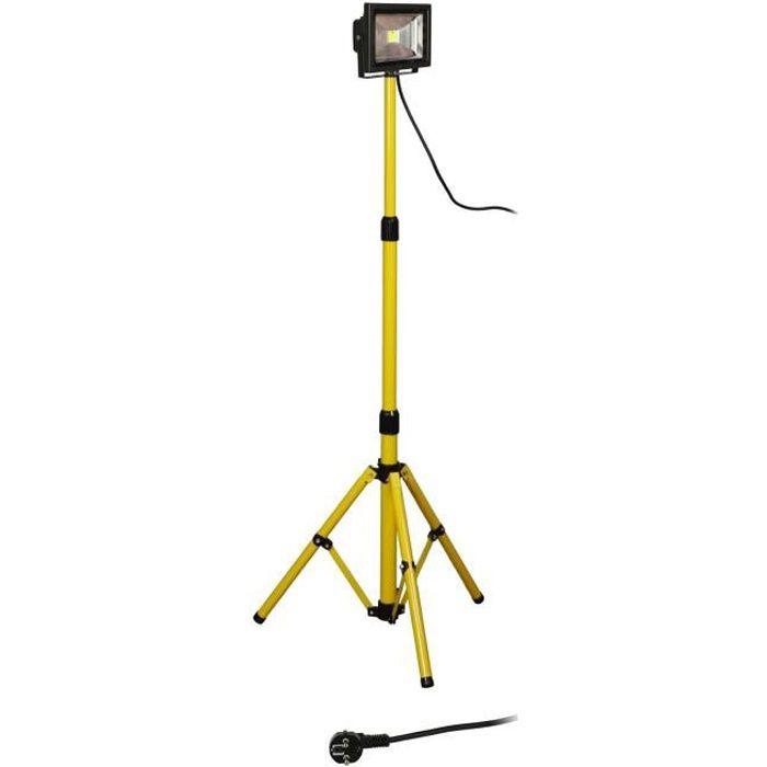Projecteur de chantier LED 20W sur trépied H05RN-F 3g1mm²
