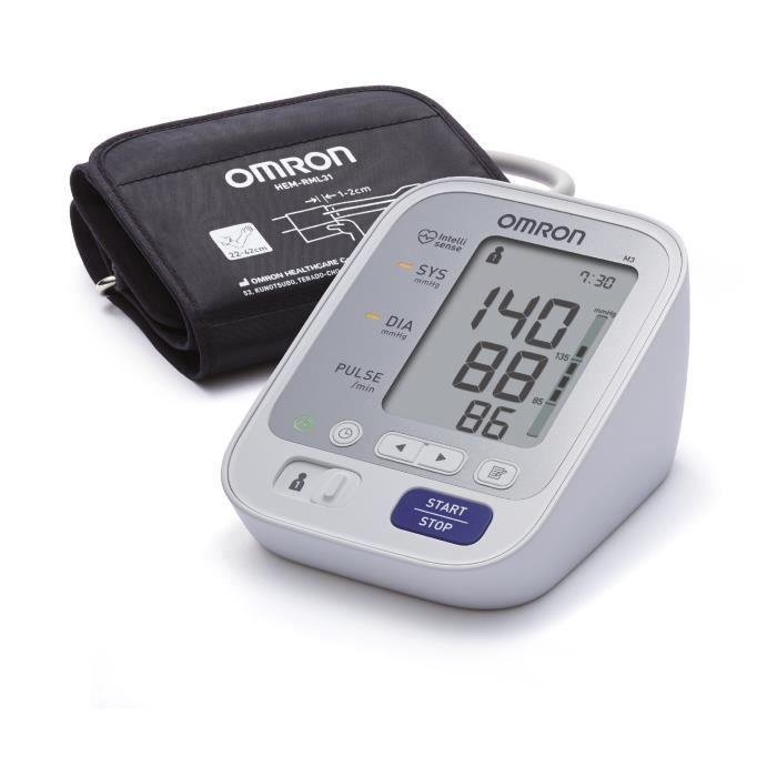 OMRON M3 - Tensiomètre de bras - Conseillé par les médecins - Validé cliniquement