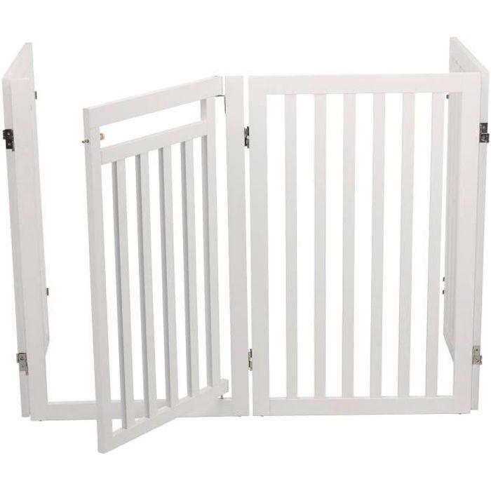 TRIXIE Barrière avec porte - 60 / 160 x 81 cm - Blanc - Pour chien