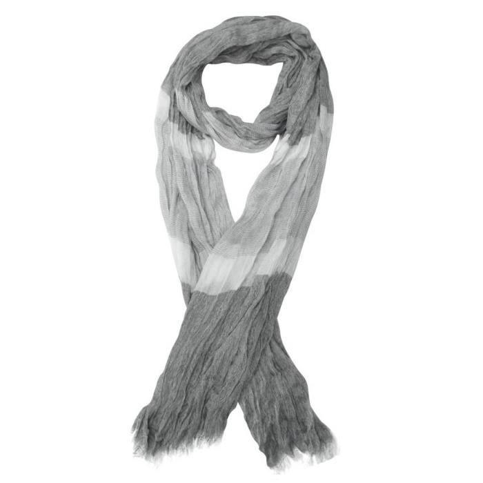 Foulard, chèche écharpe pour homme gris dominant 180 x 60 cm. Gris ... cc6bc420931