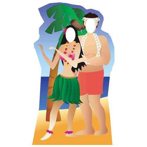 figurine géante ''couple hawaï'' - achat / vente figurine décor