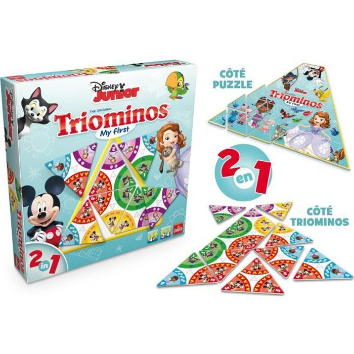 Disney jeu de soci t triominos achat vente jeu soci t plateau cdiscount - Fabriquer jeu de societe ...