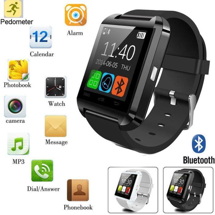 MONTRE CONNECTÉE MOONAR® Montre connectée U8 Bluetooth iPhone Sport