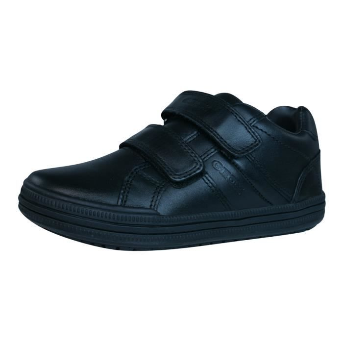 Geox J Elvis K Garcons baskets en cuir - Chaussures - Noir Black 9