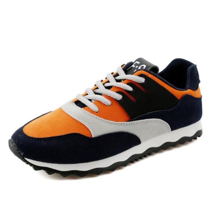 Basket Basket KIANII® Homme de Casual Orange Chaussures Homme qO5dO