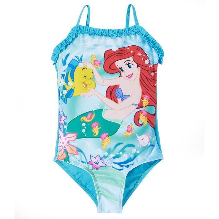 Maillot de bain 1 pièce ARIEL la petite sirène Disney Princesse enfant fille 7701a8d3057
