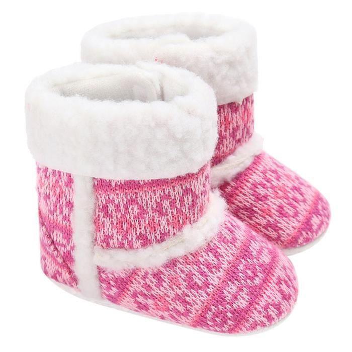 molle bébé fille bottes bambin berceau semelle prémarcheur chaussures rose neige bébé FTnYqU1xfx