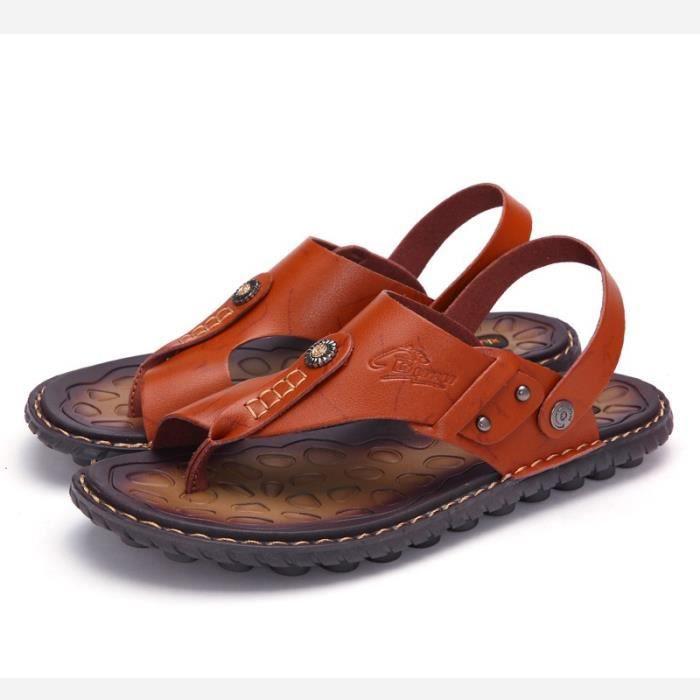 à pour résistance coréens simple homme Chaussures Étudiants l'usure Sandales w0tORnqa