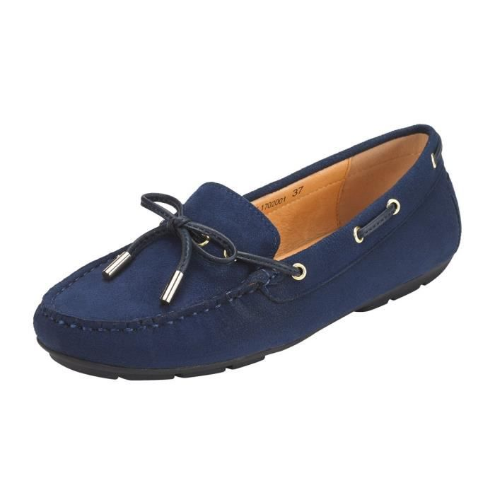 Suede Penny Loafers For Women: Vegan Leather Bow Knot Slip-on Driving Moccasins HOZNL Taille-39