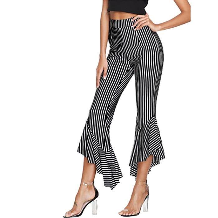 Pantalons courts décontractés à rayures pour femmes   Frandmuke 5874LMY20181658 d69d7a708079