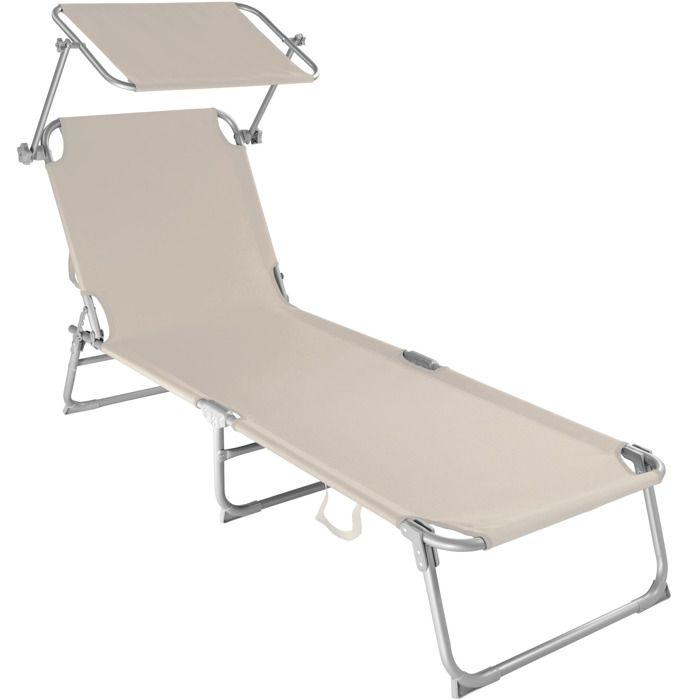 chaise longue transat bain de soleil pare soleil multi. Black Bedroom Furniture Sets. Home Design Ideas