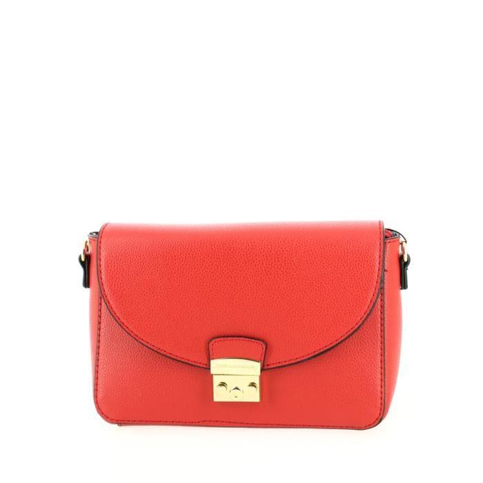 Petit sac bandoulière TED LAPIDUS Rouge.
