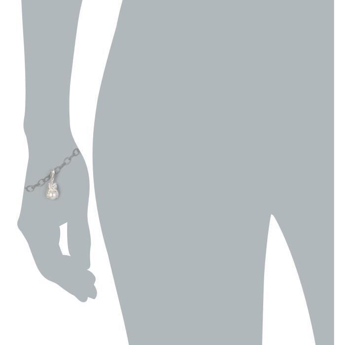 Heartbreaker Blanc Femmes synthétique Perle Argent 925 Charm