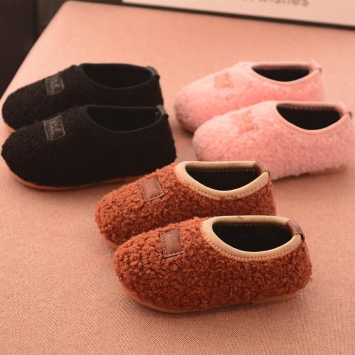 Les nouveau-nés Cartoon troupeau chaud bébé Chaussures Filles Bottes Sneakers PLms1