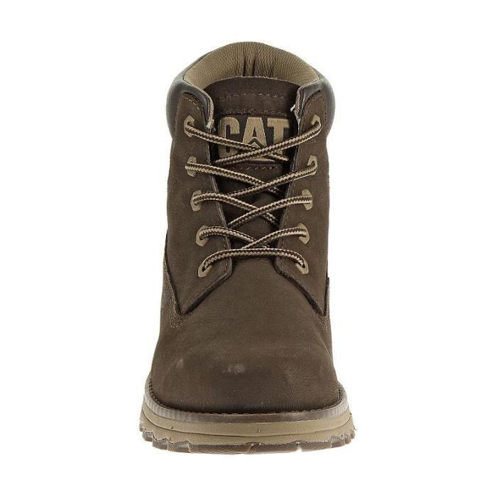 CAT Chaussures de Ville Haute Homme Founder - Marron