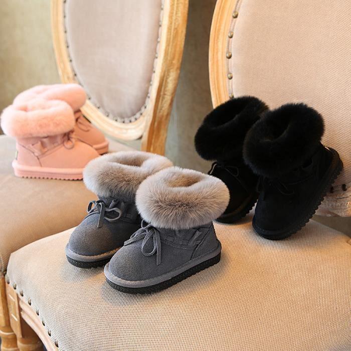 Enfants Chaussures Bottes Bébé Garçon filles Chaud Bottes de neige