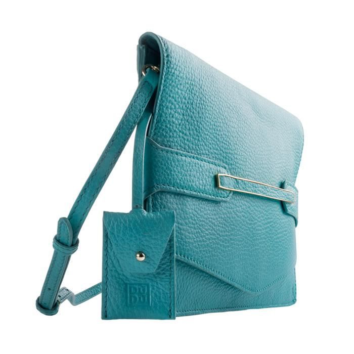 Pochette DuDu Unique Oxford Jenny - Tourquoise Un sac au design minimal mais raffiné, enrichi dun petit détail doré. Parfait pour