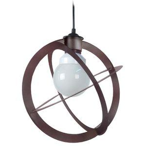 URANO Lustre - suspension métal, diam?tre 28 cm, forme planisph?re, métal marron