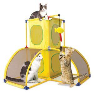 KITTY CITY Château - Aire de jeu 70x70x70cm - Pour chat