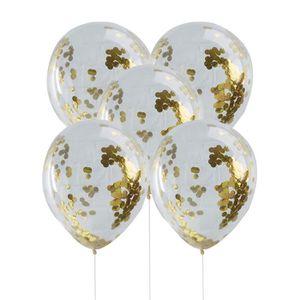 BALLON DÉCORATIF  5 pcs Confettis Rempli des ballons Ordinaire 12