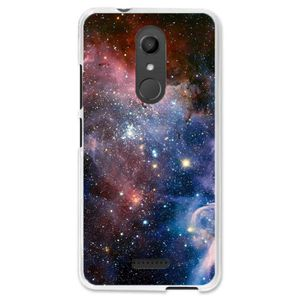 coque iphone 8 cartoon moon space stars voie lactée